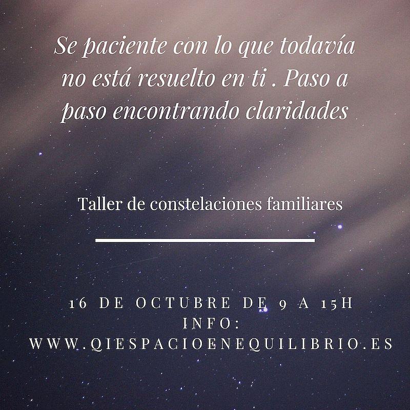 Taller de constelaciones familiares - Octubre 2021